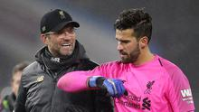 Jurgen Klopp has revealed goalkeeper Alisson will miss Liverpool's next two matches with a hip injury (Nigel French/PA)