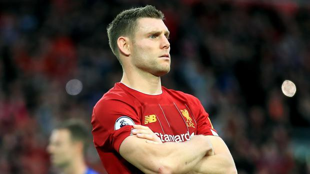 James Milner has signed a contract extension with Liverpool (Peter Byrne/PA)