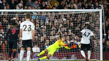 Fulham's Aboubakar Kamara saw his penalty saved against Huddersfield (Yui Mok/PA)