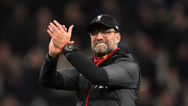 Jurgen Klopp's Liverpool team went 22 points clear at the top of the Premier League with victory over Southampton (John Walton/PA)