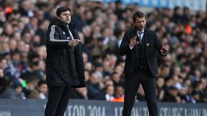 Tottenham manager Mauricio Pochettino, left, hopes Tim Sherwood, right, gets a good reception on his return to White Hart Lane
