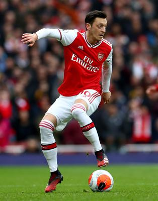 Mesut Ozil has not featured for Arsenal since the re-start (Bradley Collyer/PA)