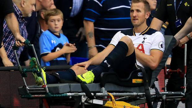 Kane left the field on a stretcher after first injuring his ankle against Sunderland in 2016 (Mike Egerton/PA)
