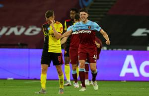 Watford had a costly defeat to deal with as West Ham celebrated almost securing survival (Richard Heathcote/NMC Pool/PA)