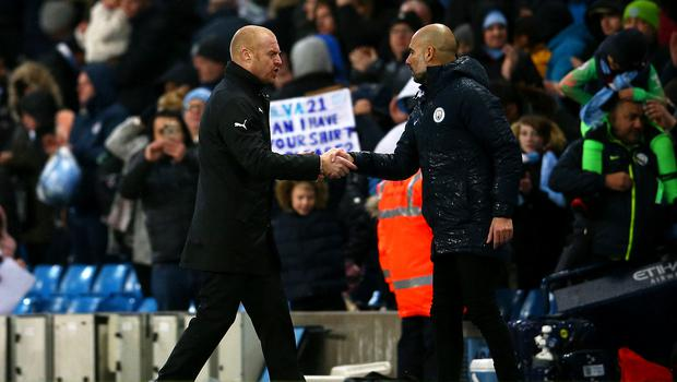 Sean Dyche and Pep Guardiola have differing priorities this season (Dave Thompson/PA)