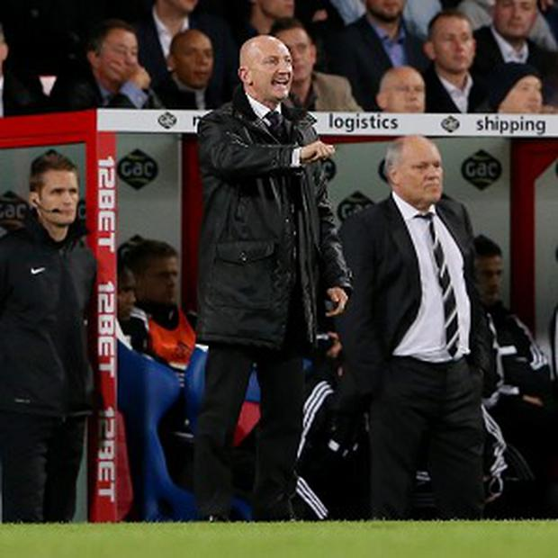 Ian Holloway, left, could not get the better of Martin Jol, right, as Fulham beat Palace 4-1