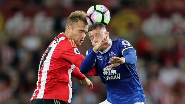Sunderland midfielder Jan Kirchhoff, left, could be out of action for up to eight weeks