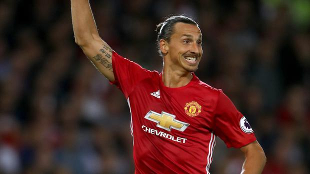 Manchester United forward Zlatan Ibrahimovic