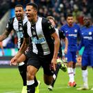 Isaac Hayden scored his first goal of the season to clinch a Premier League victory over Chelsea (Owen Humphreys/PA)
