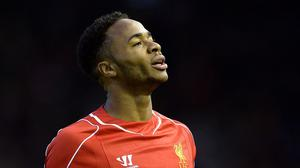 Raheem Sterling was left out of the Liverpool starting line-up at Stoke
