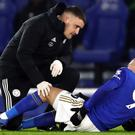 Leicester striker Jamie Vardy sustained a glute injury in the 4-1 win over West Ham (Tim Goode/PA)