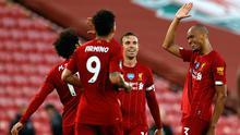 Liverpool put in an impressive performance against Crystal Palace to push them to within touching distance of a first title in 30 years (Phil Noble/NMC Pool)