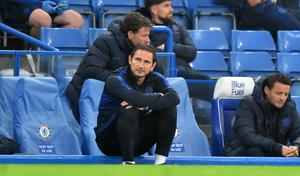 Frank Lampard, pictured, wants to rely on Jorginho for Chelsea's Premier League run-in (Glyn Kirk/NMC Pool)