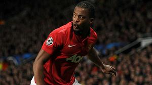 Patrice Evra has hit out at those in power at Manchester United (Martin Rickett/PA)