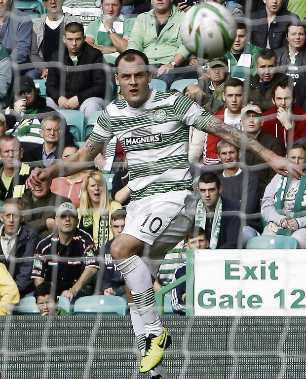 Anthony Stokes maintained his good recent run with the opening goal for Celtic