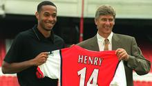Arsene Wenger, right, brought Thierry Henry, left, to England in 1999