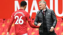 Mason Greenwood starred for United again, leading to praise from Ole Gunnar Solskjaer (Peter Powell/NMC Pool)