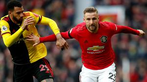 Luke Shaw has impressed in a new role for Manchester United (Martin Rickett/PA)