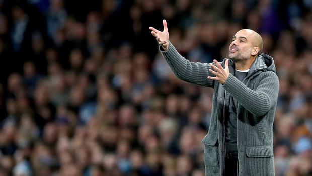 Manchester City manager Pep Guardiola (Nick Potts/PA)
