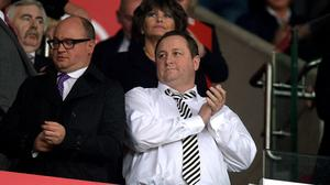 Newcastle United owner Mike Ashley in the stands at the Britannia Stadium, Stoke on Trent.