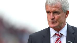 Mark Hughes, pictured, is sympathetic with Newcastle manager Alan Pardew's current plight