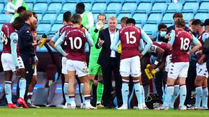 Aston Villa head coach Dean Smith has challenged his players to put things right in their final five matches (Catherine Ivill/NMC Pool/PA).