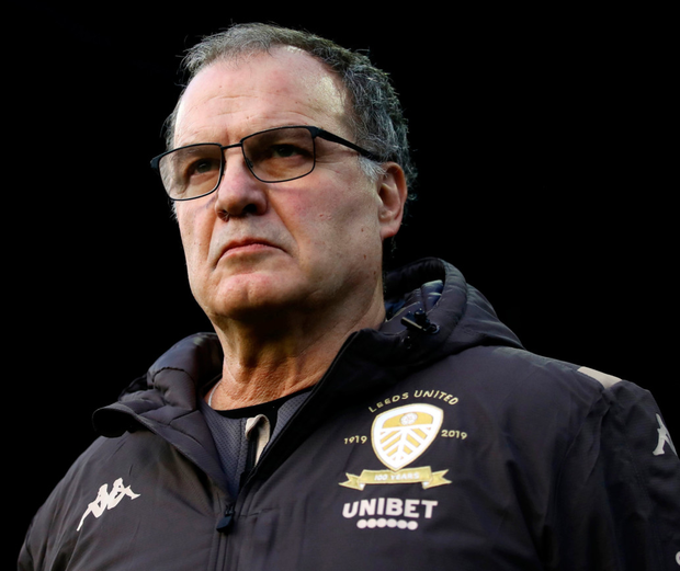 Marcelo Bielsa's Leeds lead the Championship table. Photo: PA