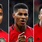 Ole Gunnar Solskjaer has high hopes for Manchester United forwards Mason Greenwood, Marcus Rashford and Anthony Martial (Martin Rickett/PA)
