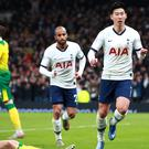 Son Heung-min (right) scored the winner (Adam Davy/PA)