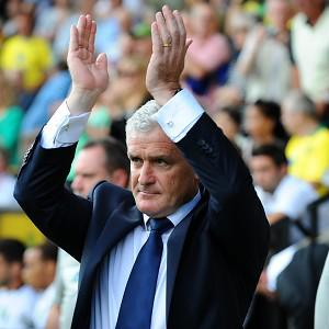 Mark Hughes is looking forward to the challenge at Stoke