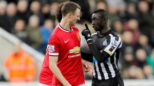 Jonny Evans, left, and Papiss Cisse, right, both face lengthy absences