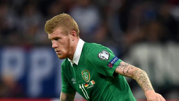 James McClean is in the Republic of Ireland squad to take on Poland on Sunday