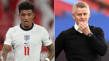 Ole Gunnar Solskjaer remained tight-lipped on Jadon Sancho (PA)
