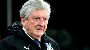 Roy Hodgson is aiming high with Crystal Palace (Nigel French/PA)