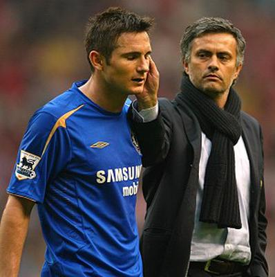 Frank Lampard, left, and Jose Mourinho could soon be reunited at Stamford Bridge
