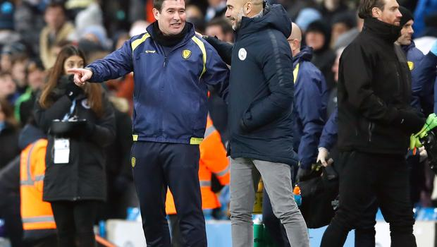 Nigel Clough (left) felt there was no disgrace in losing heavily to City (Martin Rickett/PA)