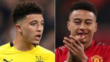 Jadon Sancho has been linked again with a move to Manchester United, who are reportedly keen to tie Jesse Lingard to a new deal (John Walton/PA).