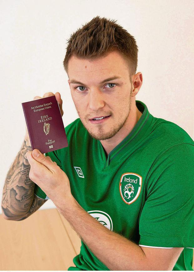 Anthony Pilkington has yet to have his passport stamped as an Irish player