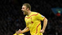 Rickie Lambert doubled Liverpool's lead in their 2-0 win at Aston Villa
