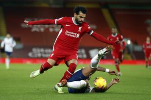 Salah insists his future lies in the hands of the club (Clive Brunskill/PA)