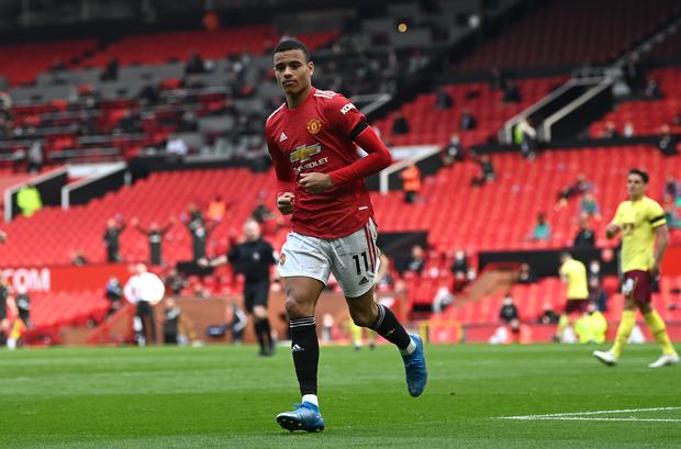 Mason Greenwood bagged a brace in Manchester United's win over Burnley (Gareth Copley/PA)