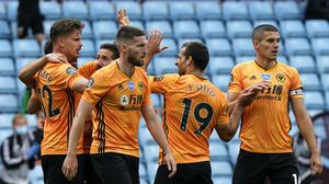 Wolves are just two points adrift of the top four after victory at Aston Villa. (Tim Keeton/NMC Pool/PA)