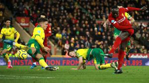 Sadio Mane scores the only goal of the game (Adam Davy/PA)
