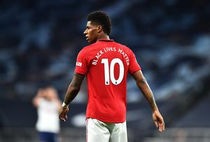 Marcus Rashford, pictured during Friday's a 1-1 Premier League draw at Tottenham (Glyn Kirk/NMC Pool)