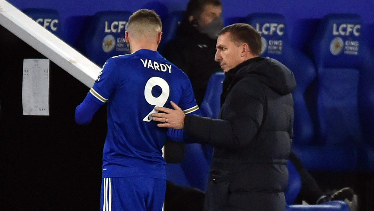 Brendan Rodgers hopeful of Jamie Vardy making swift return from groin surgery