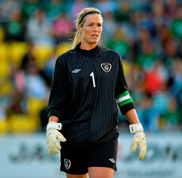 Hanging up the boots: Emma Byrne Photo: Sportsfile