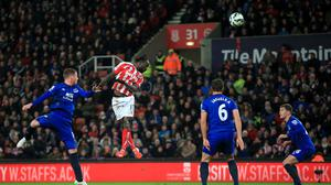 Victor Moses heads home the opening goal