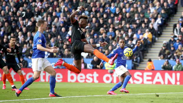 Chelsea's Tammy Abraham drew a blank at Leicester on Saturday (Nick Potts/PA)