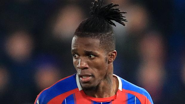 Wilfried Zaha scored the equaliser for Crystal Palace (Adam Davy/PA)