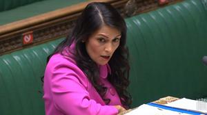 Home Secretary Priti Patel has called on social media companies to work harder on tackling racist abuse on their platforms (House of Commons/PA)